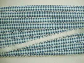5d Boerenbont elastisch band donkerblauw/blauw 4393