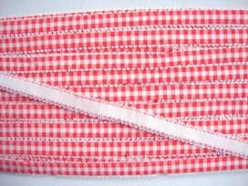 Boerenbont elastisch band Oranje/rood 4396