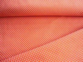 Ministip katoen Oranje/wit 8293