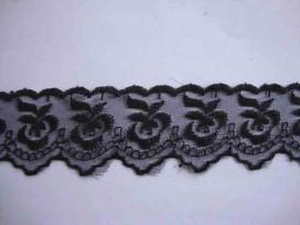 8ha Zwart nylon kant 40mm. 964