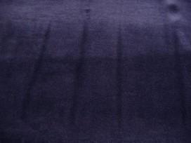 Donkerblauwe nicky velours.  80%kat. /20%pe  1.50 mtr.br.