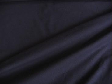 Donkerblauwe viscose tricot.  92%visc./8%el.  1.60 mtr.br  225 gr/m²