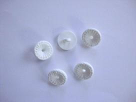 Kinder bloemknoop Wit met open hart kbk70