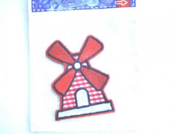 4x Hollandse applicatie Grote rode molen ha766