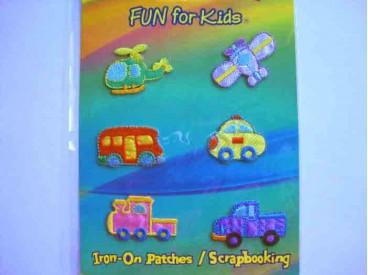 Iron-on Fun for kids Voertuigen