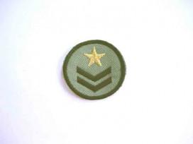 7v Leger applicatie Cirkel met een gouden ster Leger 14