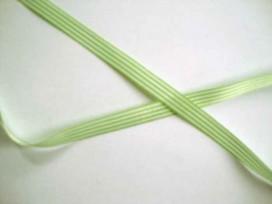Gestreept sierlint Lime/wit  10mm