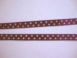 8t Satijnband Paars met stip 10mm 801