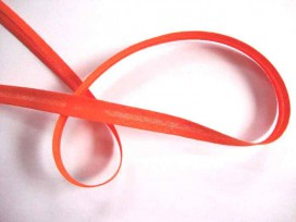 Oranje biaisband van 12 mm. breed