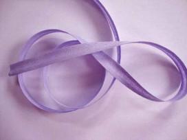 Lila/paars biaisband van 12 mm. breed