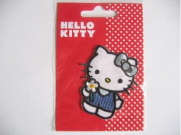 Een Hello Kitty opstrijkbare applicatie