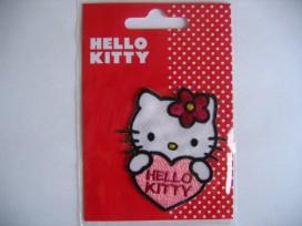 Een Hello Kitty opstrijkbare applicatie. 6x5 cm