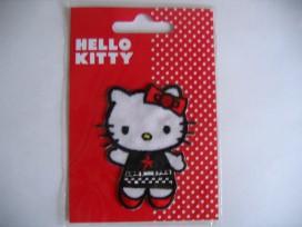 Een Hello Kitty opstrijkbare applicatie 5x6,5 cm