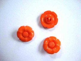 Bloemknoop met hart Oranje 20mm. bh20oranje