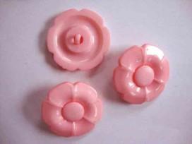 Bloemknoop met hart Roze 35mm. bh35roze