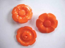 Bloemknoop met hart Oranje 35mm. bh35oranje