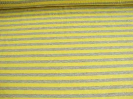 Tricot streepjes Grijs/geel 101416-23PL