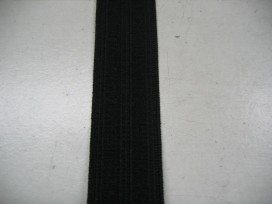 Zwart pyjama elastiek 25 mm breed