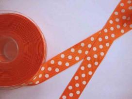 5e Ribsband met stip Oranje 25mm. 1139-25