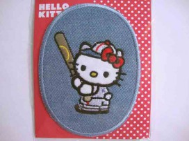 5b Hello Kitty ovaal jeans Met honkbal knuppel kitty101