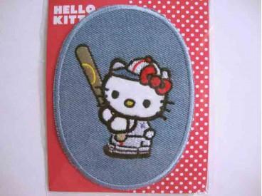5b Hello Kitty ovaal jeans Met honkbal knuppel kitty101