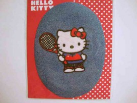 5g Hello Kitty ovaal jeans Als tennister kitty106