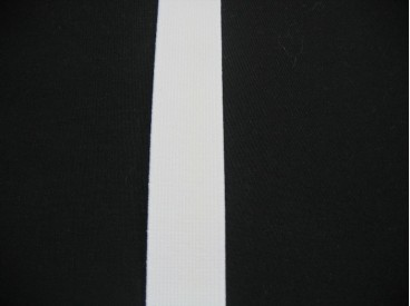 Elastiek 20 mm. stevig wit