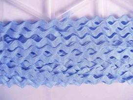 Zigzagband Lichtblauw 10 mm