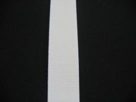 Stevig elastiek wit  25mm