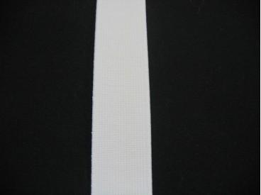 Elastiek 25 mm. stevig wit