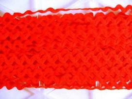 Zigzagband Oranje 10 mm.