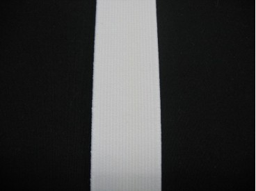 Elastiek 30 mm. stevig wit