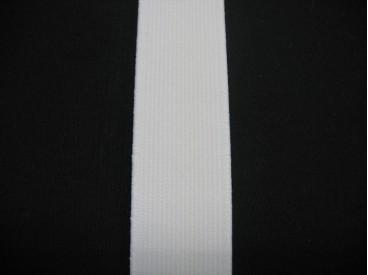 Stevig elastiek 30 mm. wit