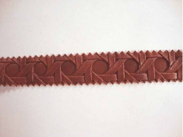 5c Leersierband Vlecht Roodbruin 4752