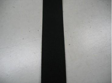 Elastiek 25mm. stevig zwart