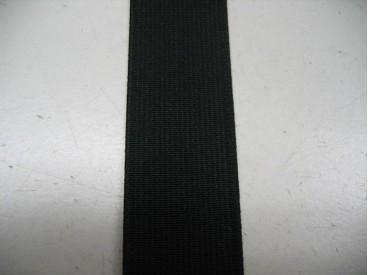 Elastiek 30 mm. stevig zwart