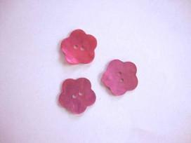 Bloemknoop parelmoer Roze 18mm. bk262