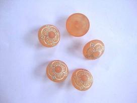 8u Bloemknoop Oranje 15mm. bk405-S3