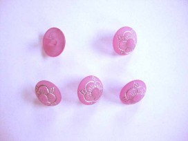 8p Bloemknoop Roze 12mm. bk410-S3
