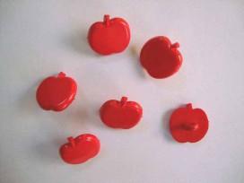 Hollandse knoop Rood appeltje 15mm. hk142