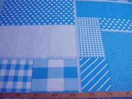 5a Boerenbont Patchwork Aqua 5634-4N
