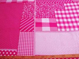 5b Boerenbont Patchwork Pink 5634-17N