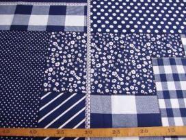 5e Boerenbont Patchwork Donkerblauw 5634-8N