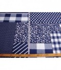 Boerenbont Patchwork Donkerblauw 5634-08