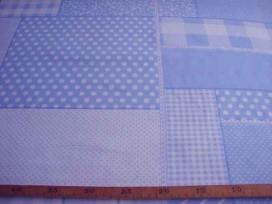 5h Boerenbont Patchwork Lichtblauw 5634-2N