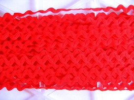 5x Zigzagband Rood 12mm. 829