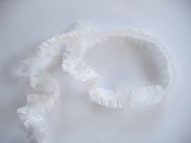 2 zijdig elastisch kant Wit 249