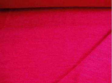 Een zeer zachte en soepele, iets gemeleerde mooie rode tricot. Iets groffer geweven.