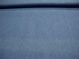 Soepele gewassen blauwe jeans, maar geen blouse kwaliteit, net iets dikker. 100% katoen. 1.50 mtr.br.