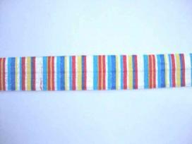 5d Elastisch biaisband met streep Blauw 1204